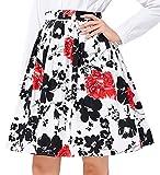 GRACE KARIN 50's Short Retro Pleated Skirt Bubble Style Size L VL6294-12