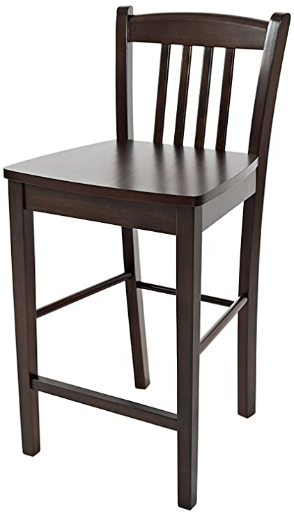 amazon com slat back counter height stool set of 2 kitchen dining