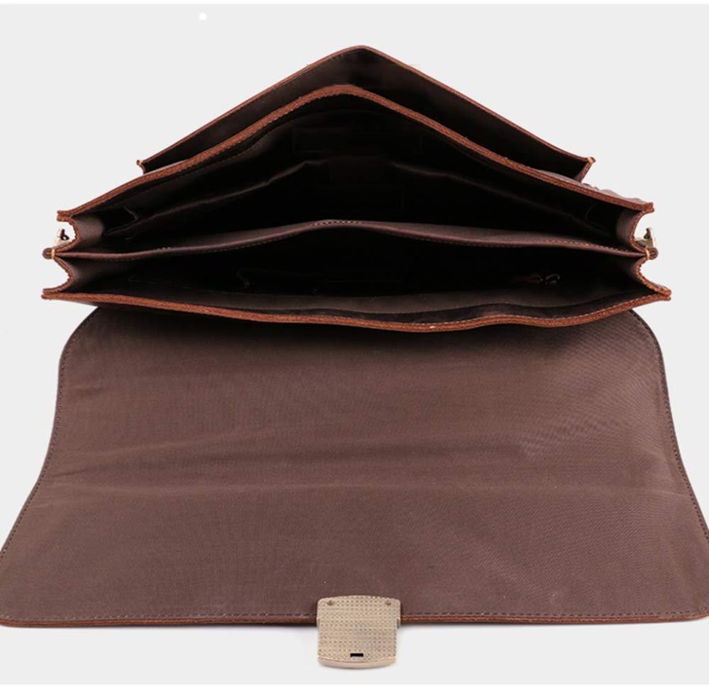 ZhiGe Briefcase,Business Retro Mens Briefcase Leather Computer Handbag