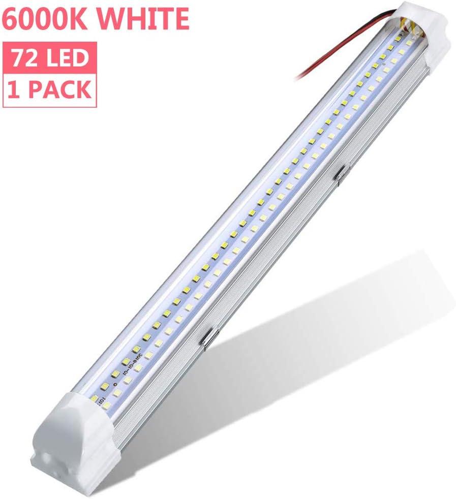 WZTO Barra de Luz 72 LED Interior del Coche led tubo DC 12-80V lámpara de Coches Luz de LED Iluminación Interior 500lm Tubo 1PCS