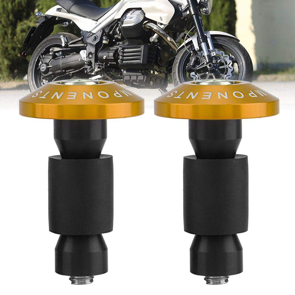 Gold 22mm Universal Motorcycle Bar Ends 7//8 Handlebar Grips Plugs for Racing ATV Offroad