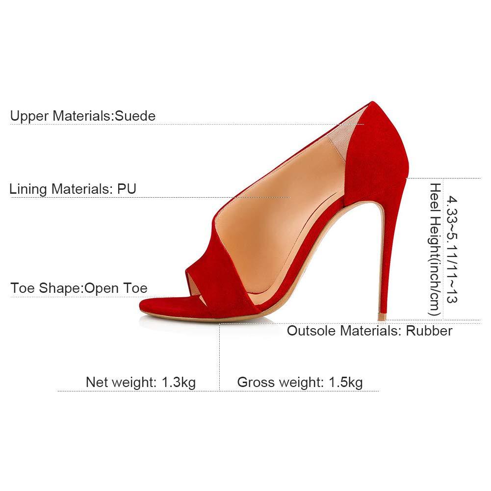 Peep Toe High Klassische Stiletto High Toe Heel,MWOOOK-453 Damen Klub Party Freizeit Hochzeit Abendschuhe schuhe 5432ab