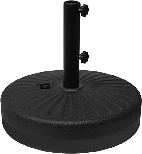 Leisurelife Patio Table Umbrella Stand Base Water Filled, 21 66-lbs, Plastic, Black