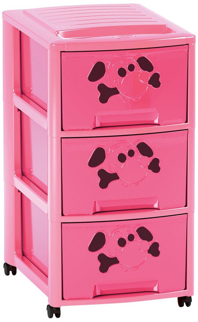 Mondex pls6083/ Plastica Rosa /17/Torre di Bambini 3/cassetti Formato A4 36,5/x 27/x 52/cm