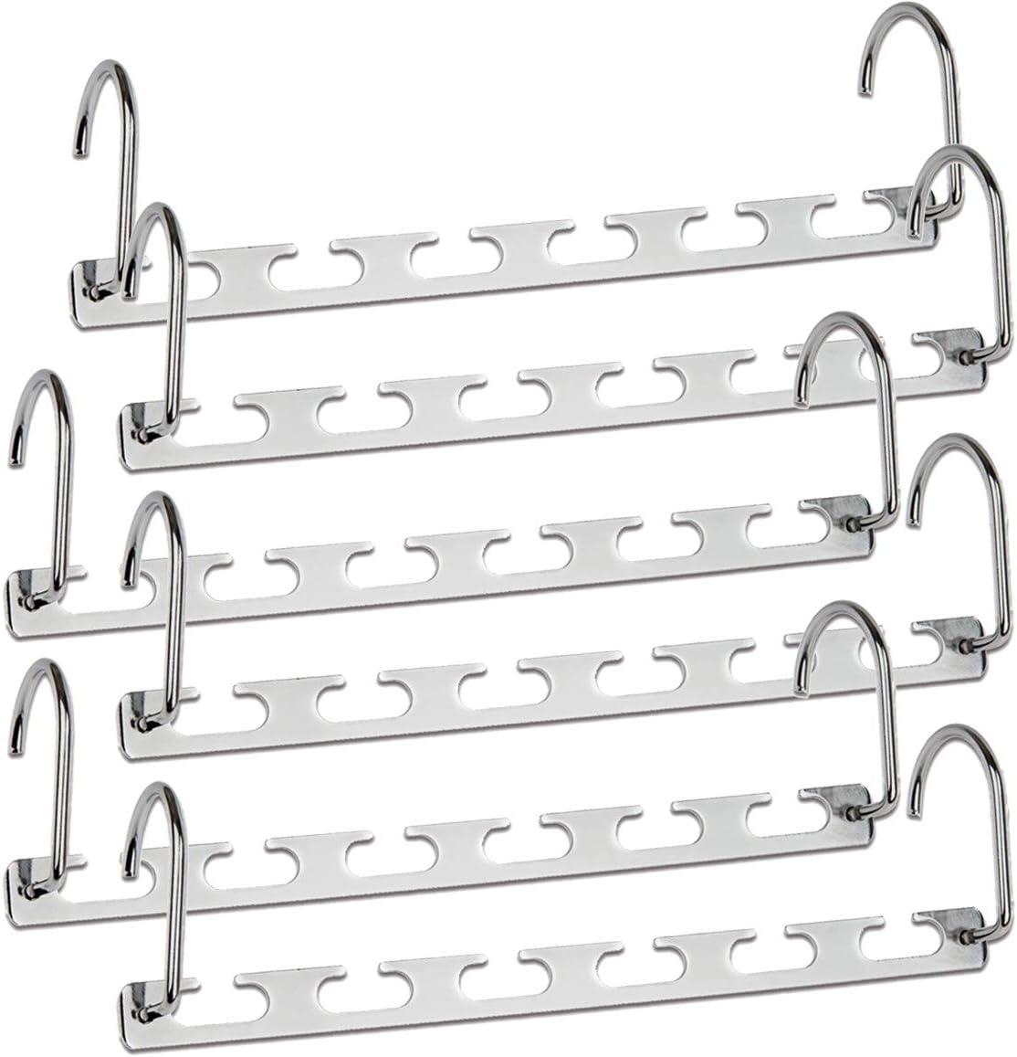 Pack of 6 DLOPK Hangers Metal Magic Hangers Space Saving Hangers Closet Space Saving Wardrobe Clothing Hanger Organizer