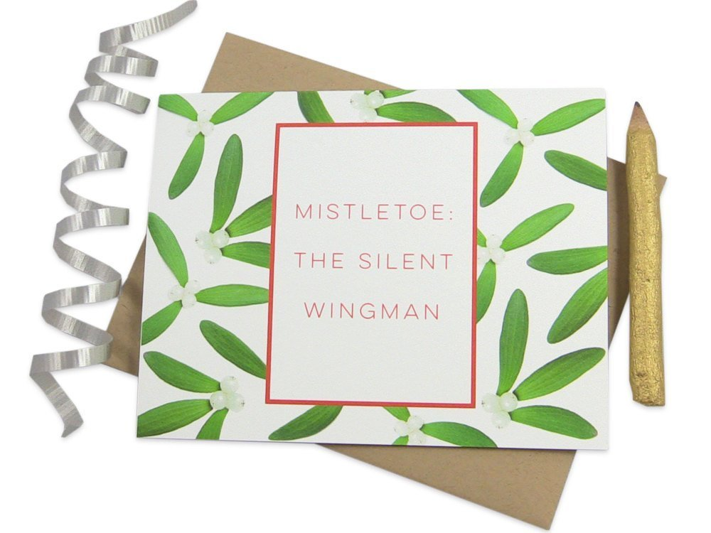 Christmas Card with Personalized Interior Message Option