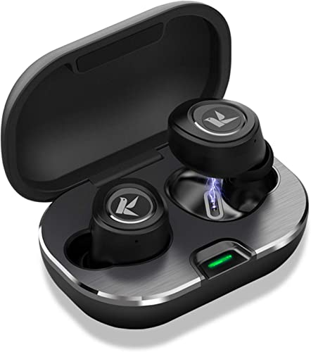 Vaupan True Wireless Earbuds, Bluetooth 5.0 Headphones in-Ear TWS Stereo Wireless Earphones with Charging Case Easy-Pairing Noise Canceling 50H Playtime Built-in Mic Sweatproof for Sports,Workout,Gym