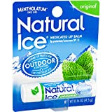 Mentholatum Natural Ice Lip Balm Original SPF 15 1 Each (Pack of 12)