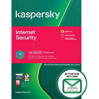 Kaspersky Internet Security 2021 | 3 Devices | 1 Year | PC/Mac/Android | Activation Key Card by Post Mail | Antivirus…