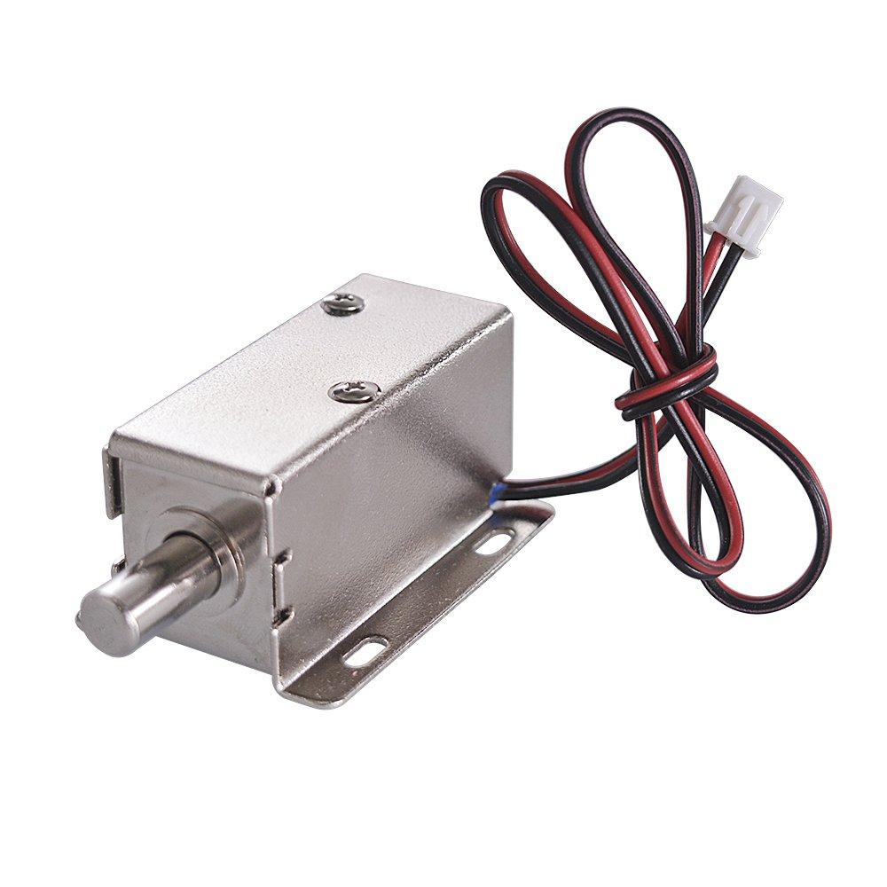 Ewead, Energy Saving Electric Lock Assembly Solenoid DC 24V 28.8W Open Frame Type Solenoid for Cabinet Door Lock