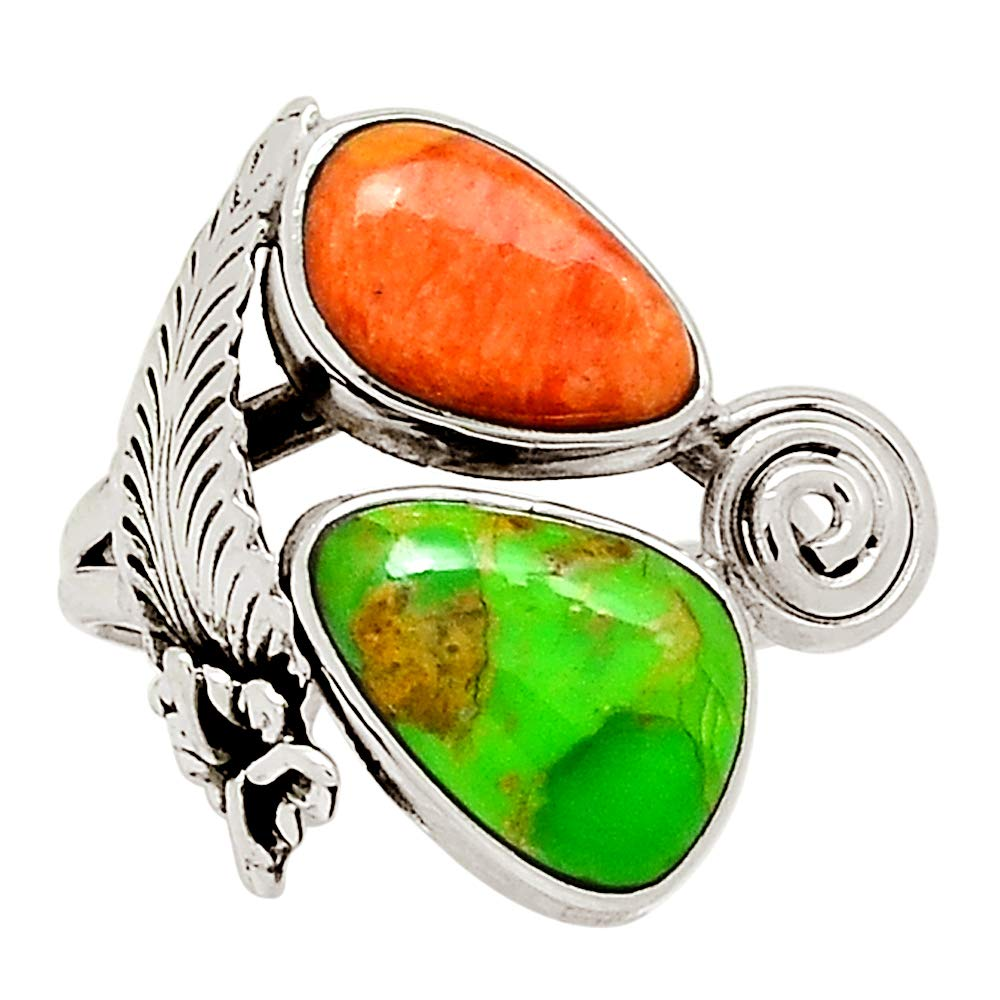 Xtremegems Native American Mohave Green Turquoise 925 Sterling Silver Ring Jewelry Size 7.5 30119R