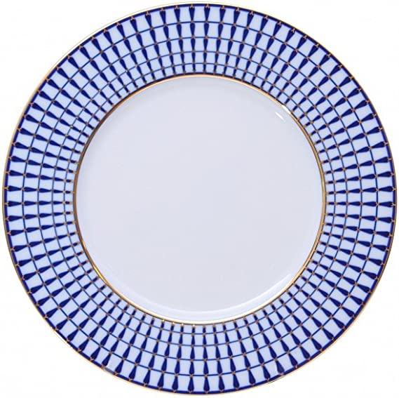 "7.9/"" Scarlett Dinner Plate by Imperial Porcelain Lomonosov Russian Fine China"
