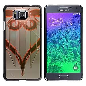 KLONGSHOP // Cubierta de piel con cierre a presión Shell trasero duro de goma Protección Caso - Diseño tribal - Samsung ALPHA G850 //