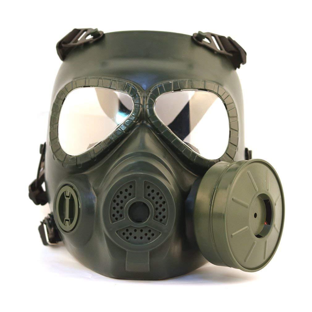 FDBF Defensa al Aire Libre Niebla Traer Ventiladores Máscara Antigas Cara Completa CS Máscara de equitación de Campo