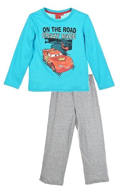 Cars para Niño Pijama Largo MC Queen Azul/Gris de 3 a 8 Años Azul