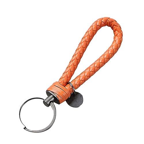 Amazon.com: Llavero de cuero trenzado con cuerda y colgante ...