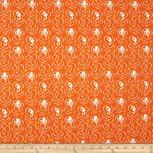 (Heather Ross Mendocino Kelp Forest Orange Fabric by The Yard )