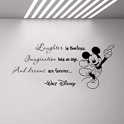 Wall Stickers Inspiring Quotes Home Art Decor Decal Mural Encouraging Words Minnie Mickey Mouse Quote Sticker Home Boy Girl Room Bedroom Nursery Decor: Home & Kitchen