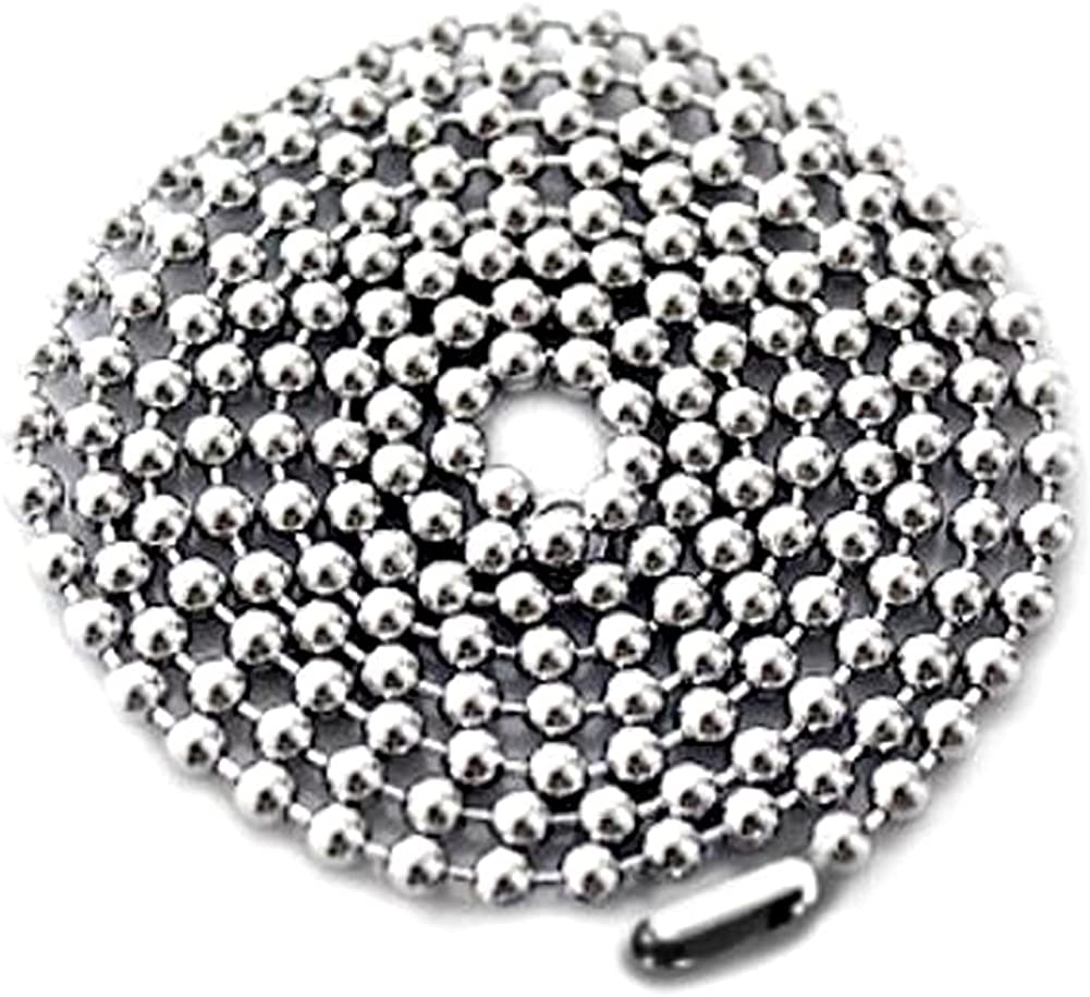 """LOT 10 25 50 100 PCS HIGH QUALITY STAINLESS STEEL BALL CHAIN NECKLACES 2.4mm 30/"""""""