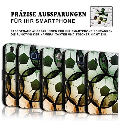 Wallet Book Style Flip Handy Tasche Case Schutz Hülle Schale Motiv Etui für Apple iPhone 5 / 5S - Design Flip MV104