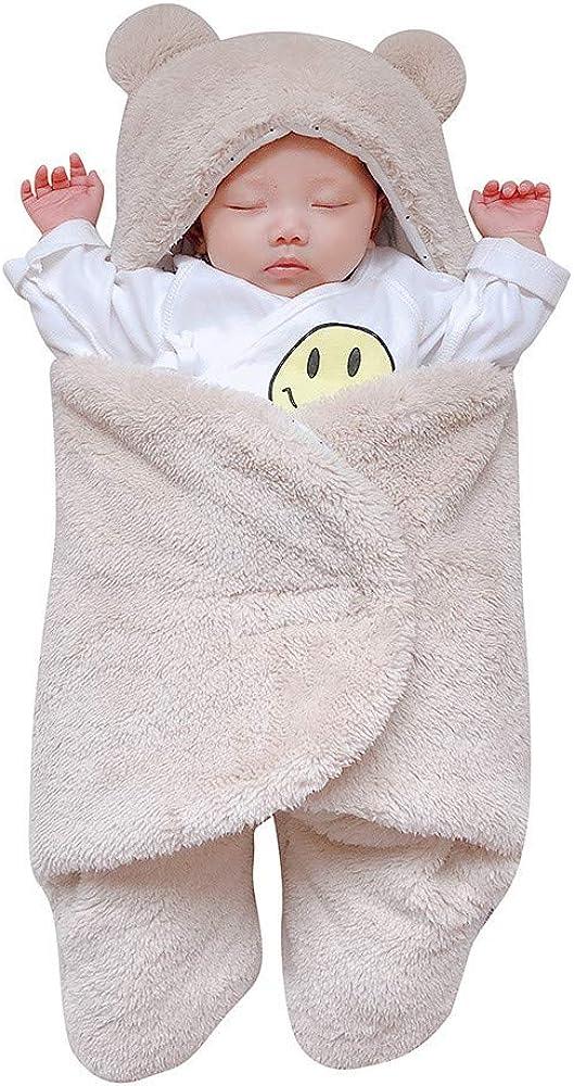 QinMM Sacos de Dormir para Bebes Albornoces Bata de Baño Animal Linda Suave de Algodón con Capucha para Niñas y Niños Pijama 0-6 Mes