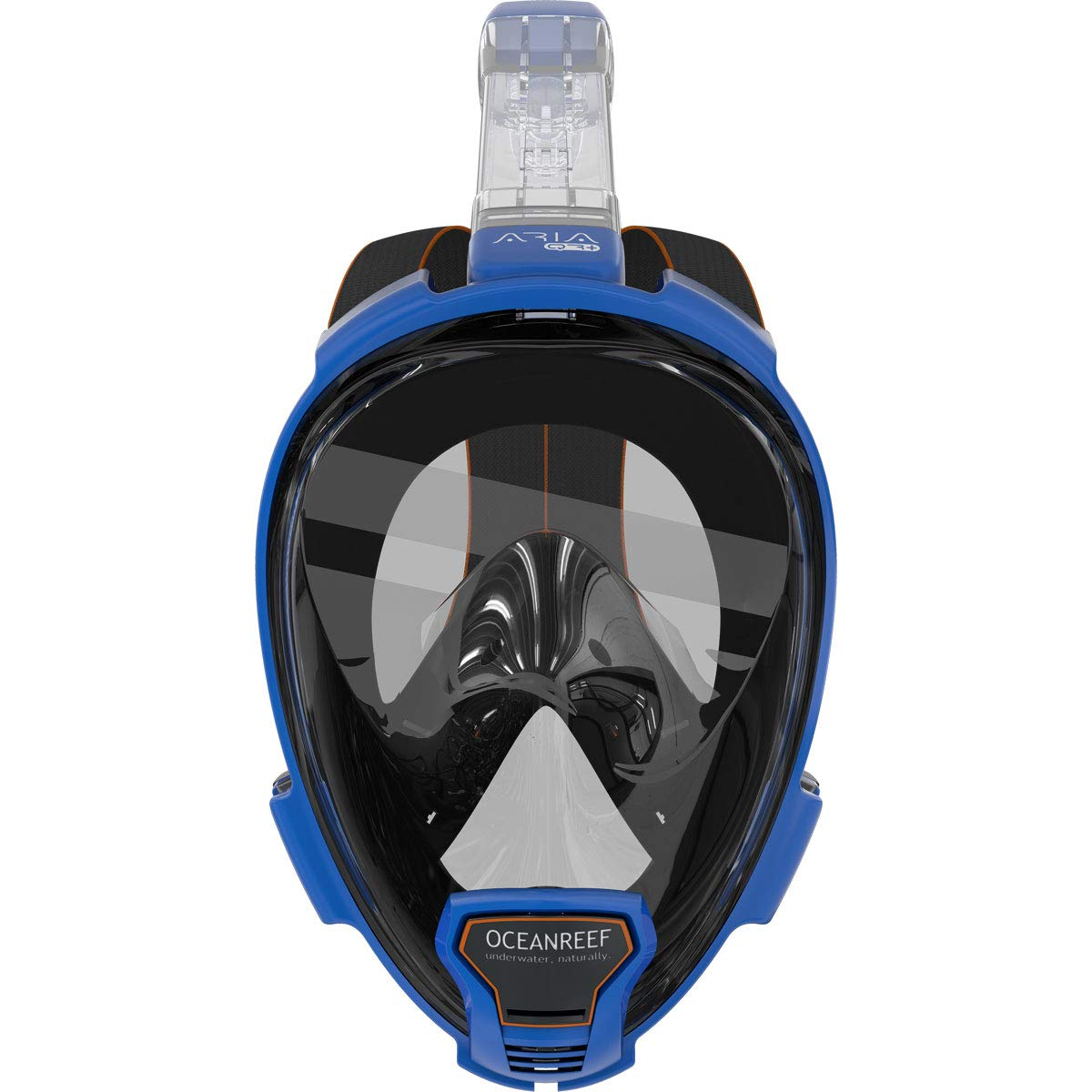 OCEAN REEF - Aria QR + Quick Release Snorkeling Mask - Full Face Snorkeling Mask - 180 Degree Underwater Vision - 5 Different Colors and 3 Sizes - Blue Color - Size M/L by OCEAN REEF