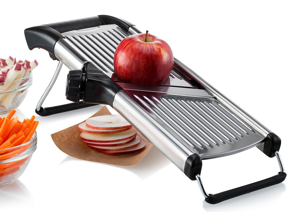 Gourmia GMS9105 Adjustable Stainless Steel Mandoline Slicer Dial-Style Kitchen Slicer With Built in Adjustable Blades Fine to Thick Slice & Julienne Settings by Gourmia (Image #5)