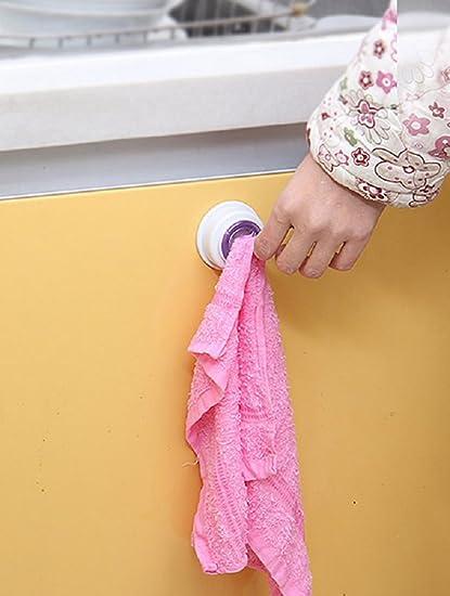 Ducomi® Fácil Casa – Soporte para paños con clip adhesivo para paños, guantes, toallas y paños de cocina y baño: Amazon.es: Bricolaje y herramientas