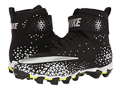 Men's Nike Force Savage Shark Football Cleat Black/Metallic Silver/White  Size 7.5 M
