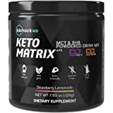 Keto Matrix Keto Supplement - Exogenous Ketones BHB Salts + MCT Oil Powder - Beta Hydroxybutyrate Keto Powder…