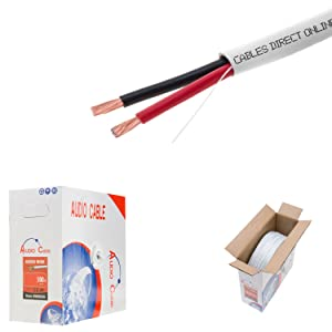250ft 14AWG 2 Conductors (14/2) CL2 Rated Loud Speaker Cable Wire, Pull Box (for in-Wall Installation) (14AWG / 2 Conductors, 250ft)