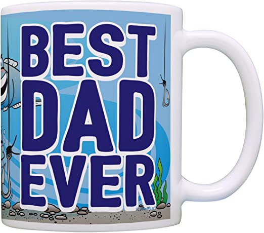 Amazon Com Best Dad Mug Best Dad Ever Gifts For Dad Fishing Gifts Dad Presents Father Gifts Dads Birthday Gifts Coffee Mug Tea Cup Best Dad Ever Kitchen Dining