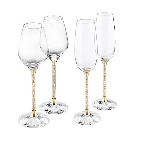 3c31c5e7fc8 Diamond Affair Swarovski Crystal Filled Stem Glasses