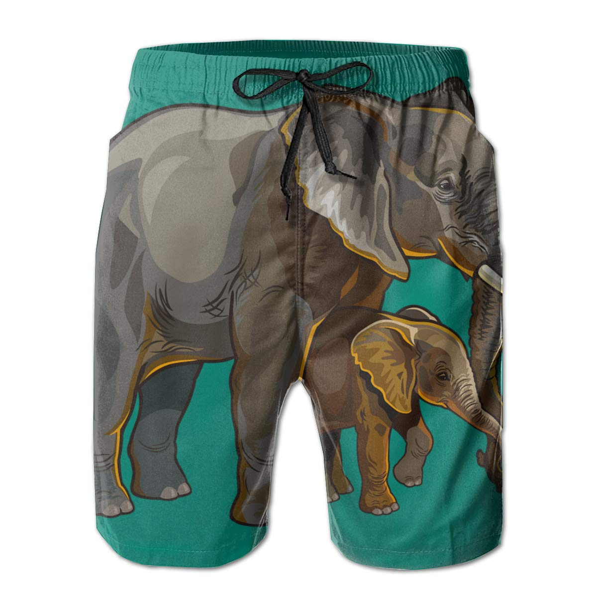 Suitable for Surfing Elephant Mens Swimming Pants Redeast Beach Shorts Swimming and Other Marine Sports