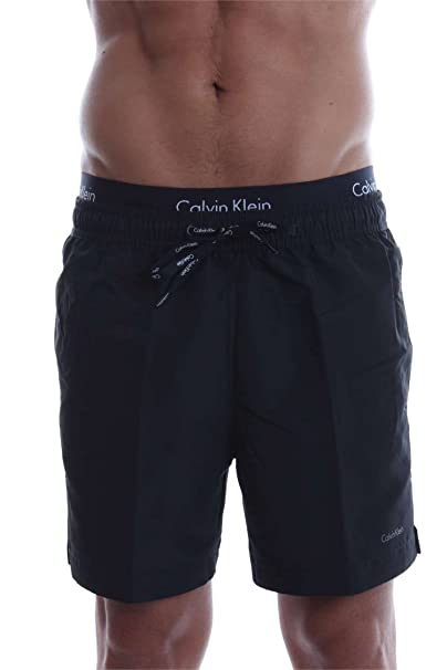 ec205a6058 Calvin Klein Double Waistband Men's Swim Shorts, Black X-Large ...