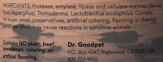 Amazon.com: Dr. goodpet Canina las enzimas digestivas ...