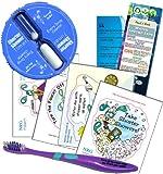 shower timer water saver - Shower Timer Kit Children's 5 Minute Sand Timer Kit | Toothbrush Window Cling Stickers & Bookmark