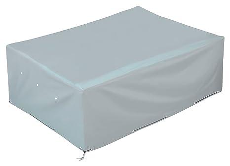 GardenMate® Funda Protectora de poliéster Oxford para Muebles de jardín 200x160x70 cm - Tejido Oxford 220 gsm Color Gris Hielo