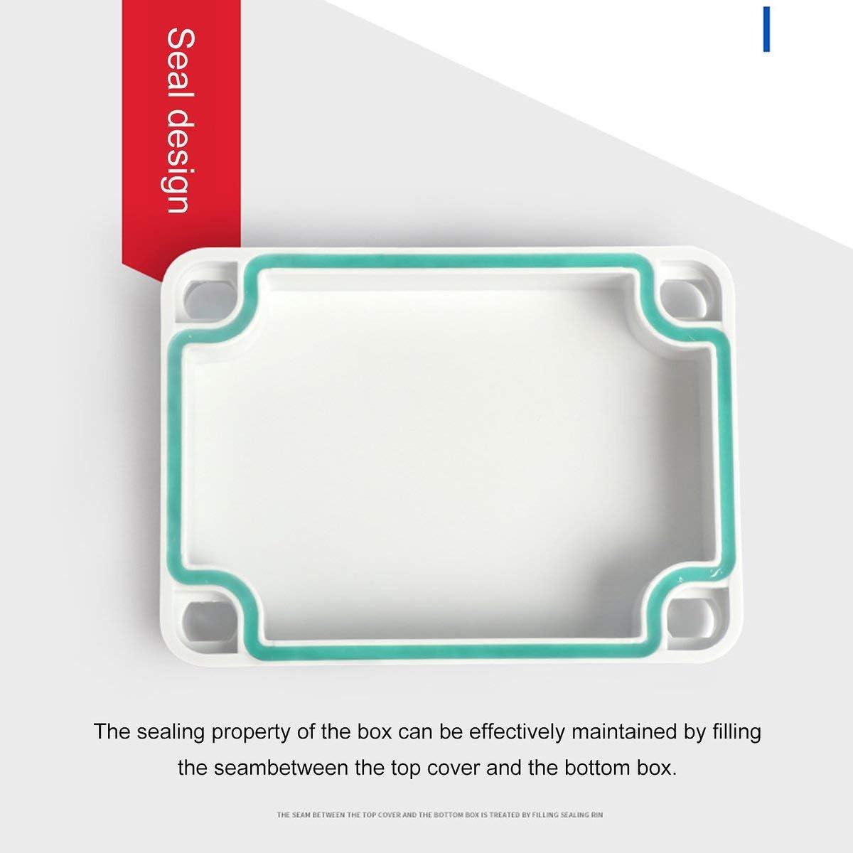 Greatangle Alloggiamento Esterno della Scatola di derivazione di plastica Scatola di Strumenti elettronici per progetti elettrici Scatola per progetti elettrici in plastica Impermeabile