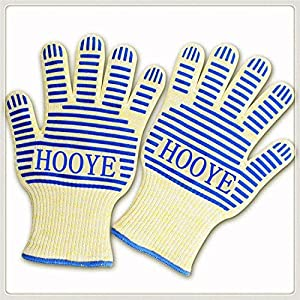 Wholey Heat Resistant BBQ Grill Gloves for Kitchen and Outdoor Cooking , Hot Surface Handler