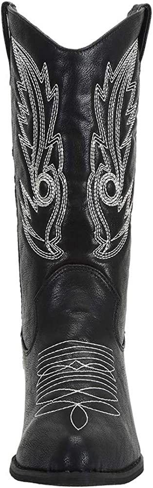 SheSole Womens Wide Calf Western Cowgirl Cowboy Boots