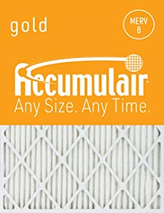 Accumulair Gold 17x21x1 (Actual Size) MERV 8 Air Filter/Furnace Filter (2 Pack)