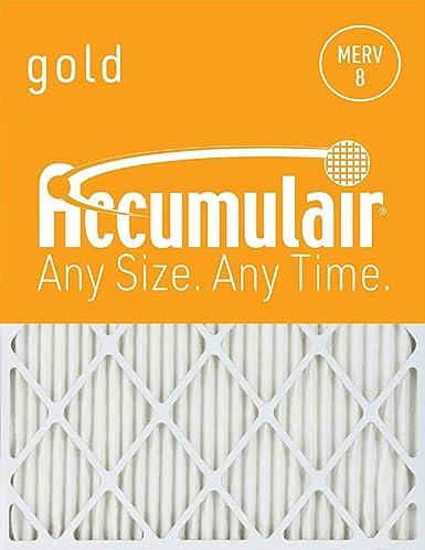 MERV 8 Air Filter//Furnace Filter Accumulair Gold 23x25x1 Actual Size