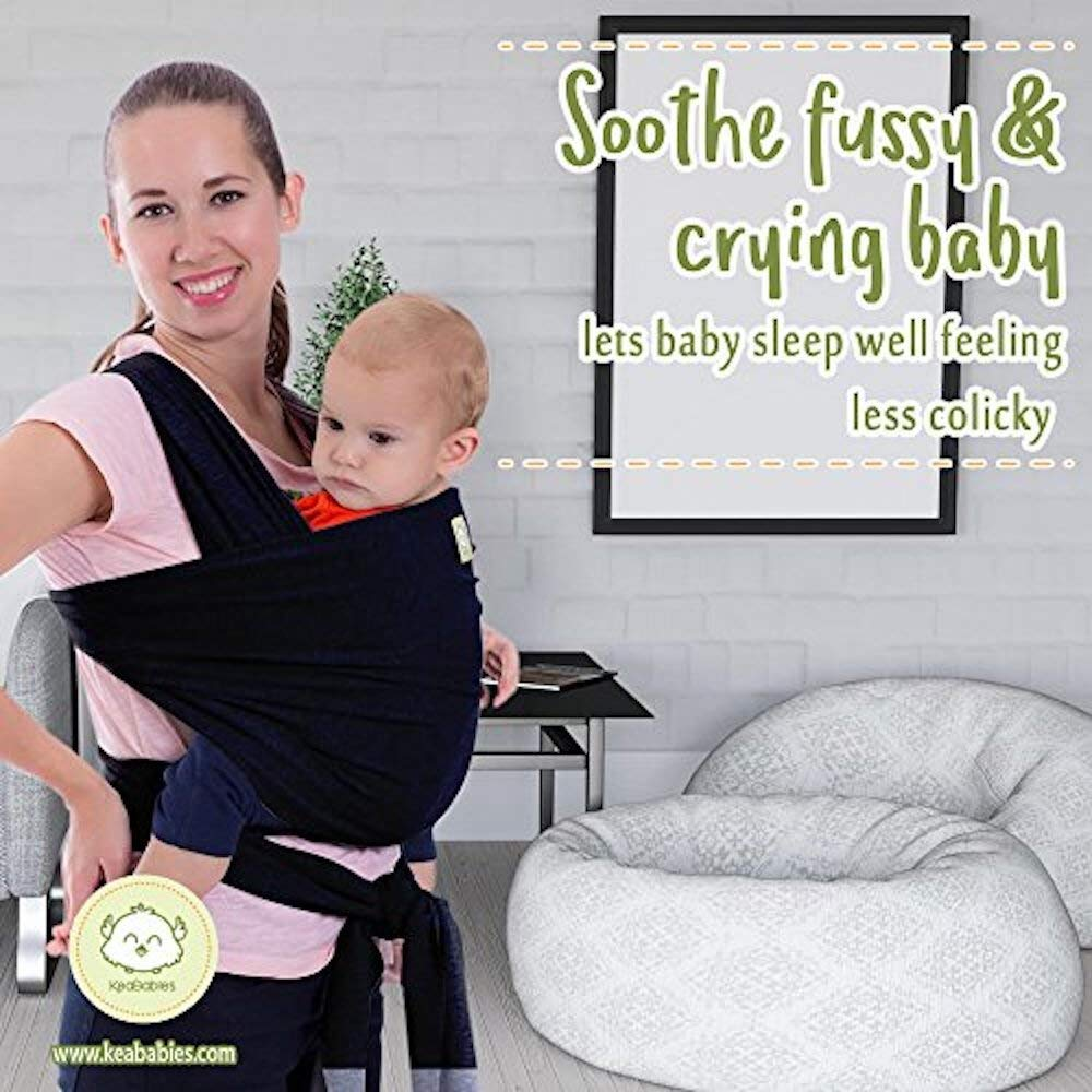 b93a7aa406c Amazon.com   Baby Wrap Carrier by KeaBabies - All-in-1 Stretchy Baby Wraps  - 3 Colors - Baby Sling - Infant Carrier - Hands-Free Babies Carrier Wraps  ...