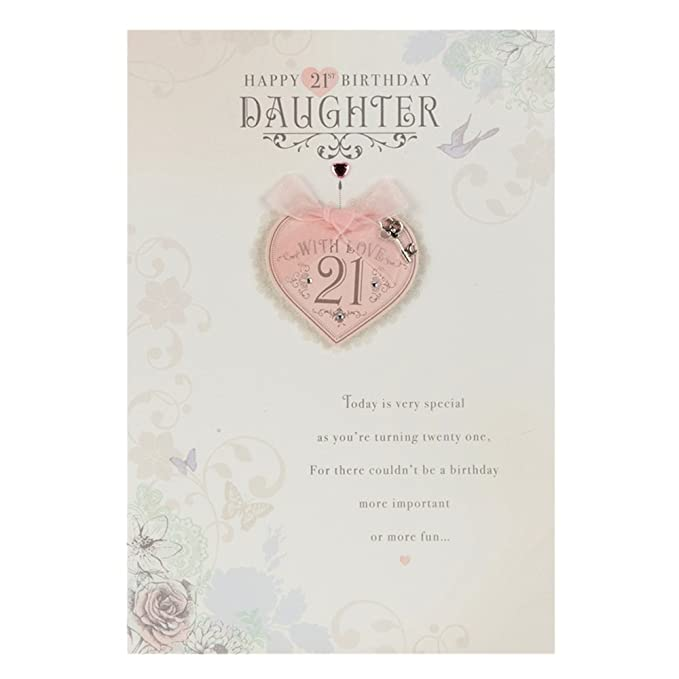 Amazon Daughter 21st Birthday Greetings Card Office Products