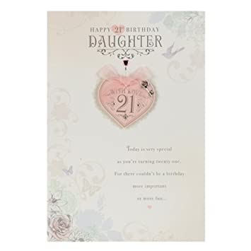 Hallmark 21st Birthday Card For Daughter With Love Medium