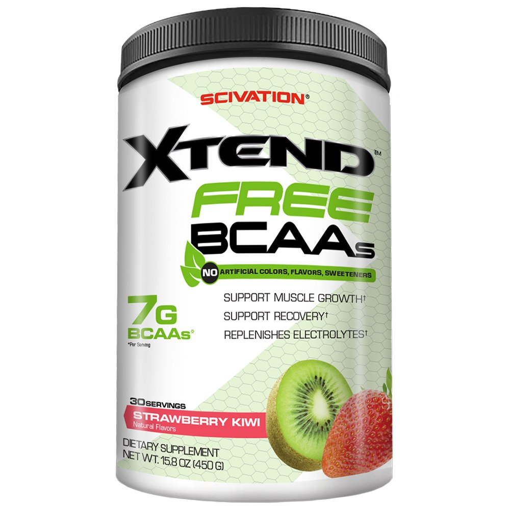 Scivation Xtend FREE BCAA Powder, Strawberry Kiwi, 30 Servings, No Artificial Colors, Flavors, or Sweeteners