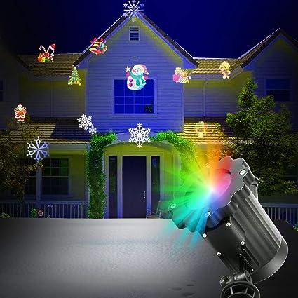 Yukong - Lámpara LED para exterior de Halloween y Navidad, para jardín, impermeable, IP44 LED, proyector exterior para jardín, escalera, parque, balcón, terraza: Amazon.es: Instrumentos musicales