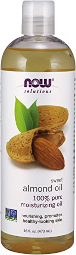 NOW Solutions, Sweet Almond Oil, 100% Pure Moisturizing Oil, Promotes Healthy-Looking