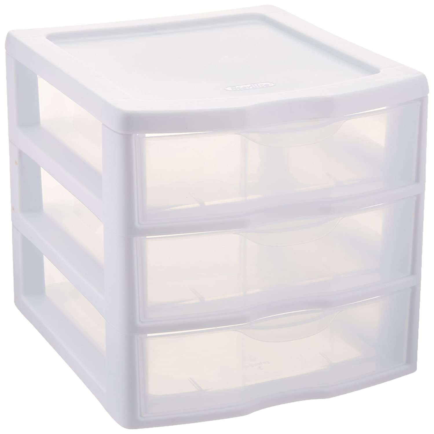 Sterilite ClearView 3 Storage Drawer Organizer  sc 1 st  Amazon.com & Shop Amazon.com | Stacking Drawers